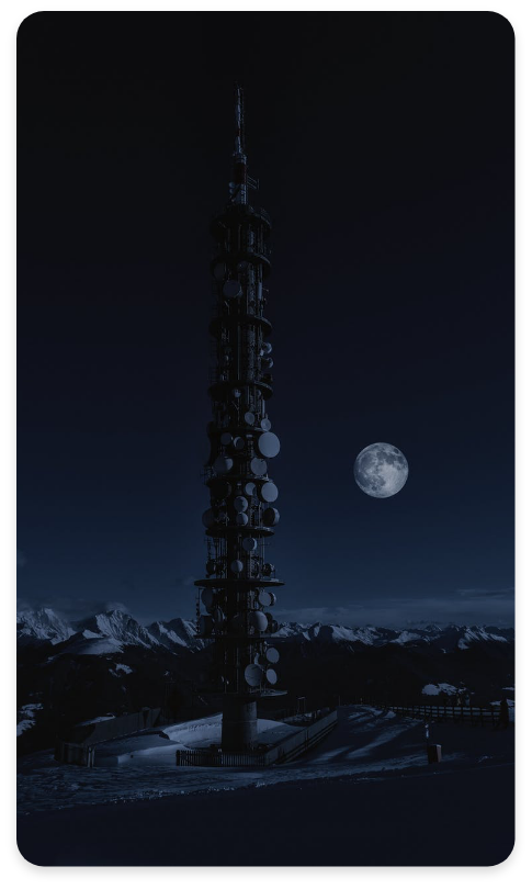 Fixed LTE Tower At Night