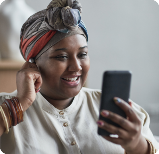 Lady Using Mobile Devices Connected To Router