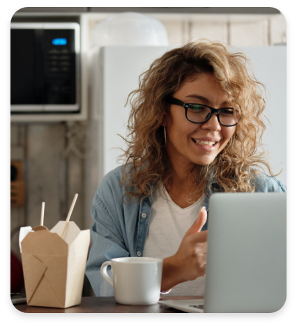 Woman Remote Worker Using Fixed LTE Connectivity
