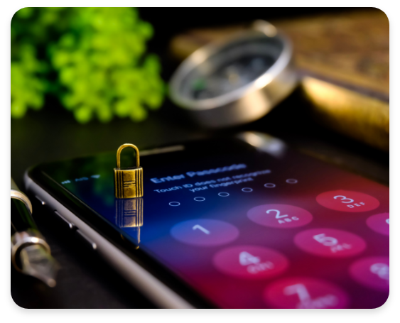 Mobile Device Management Padlock On Phone